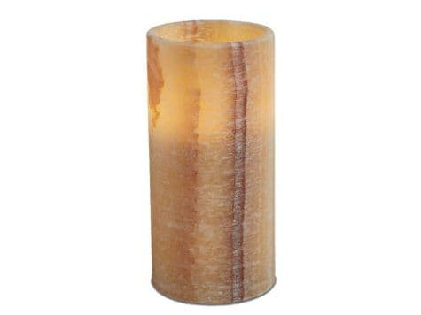 marble wax led candle | marbled battery candle